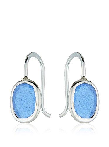 Córdoba Jewels | Pendientes en plata de Ley 925 con piedra semipreciosa. Diseño Dolce Agua Marina