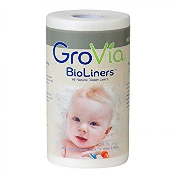 GroVia BioLiners Unscented Diaper Liners, 400 Count