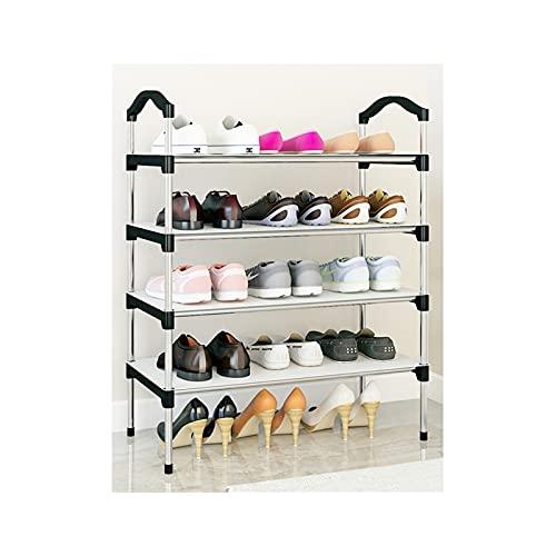 HYAN Zapatero Zapato Simple Metal Freestanding Zapato Estante de Almacenamiento Organizador Torre de Zapato Ajustable para Closet Entrada Dormitorio Caja de Zapatos