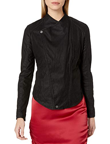 Dolce Vita Women's Brushed Faux Leather Aiden Jacket, Black, Small