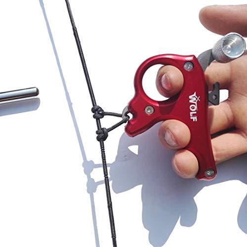 SHARROW Tiro al Arco Release Aids Arco Compuesto 3 Dedos Arco Liberación Disparadores para Accesorios de Caza