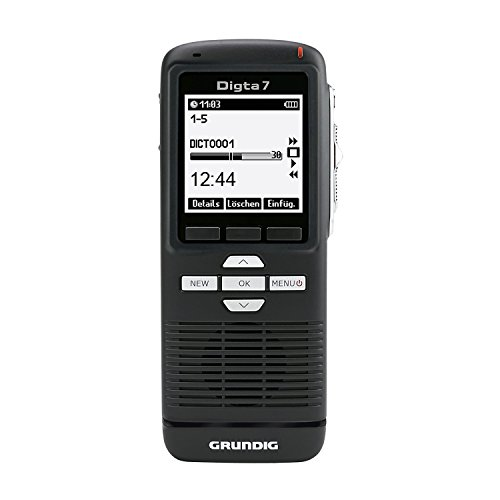 Grundig Digitales Diktiergerät Digta 7 (PDM7020-12), Handdiktiergerät inklusive Diktiersoftware, 160 x 160 pixels