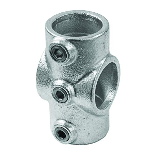 Conector de 4Vías hidráulico estilo industrial para tubo redondo diámetro 28–35mm para de oreja a 't' para la creación de bisagras de hierro