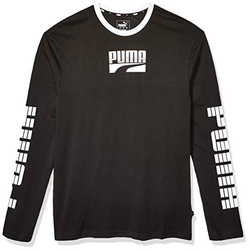PUMA Men's Rebel Bold Long Sleeve TEE, Black, M