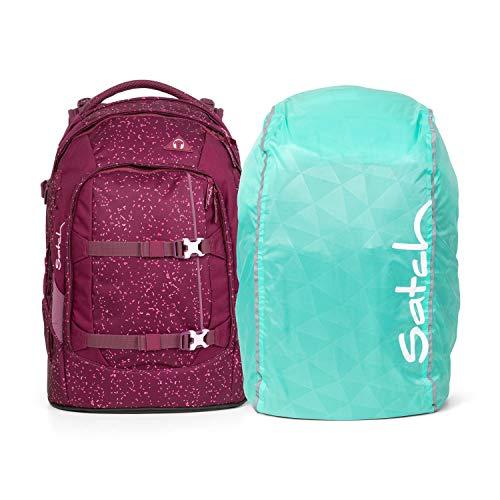 Satch Pack Schulrucksack Set 2tlg inkl. Regenhülle