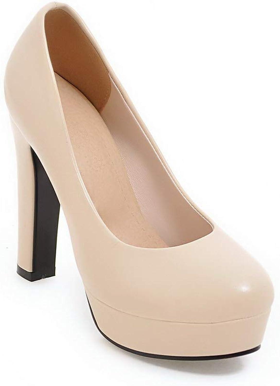 AdeeSu Womens Platform Travel Structured Urethane Pumps shoes SDC05840