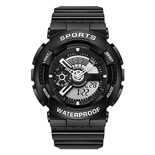 TREWQ Relojes Deportivos para Hombre, Digital Militares Relojes con Cuenta atrás para los Hombres LED Electrónico Grande Relojes Resistente al Agua 50M,Negro