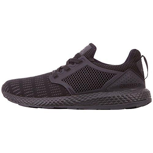 Kappa Unisex-Erwachsene Moxie Sneaker, Schwarz (Black 1111), 44 EU