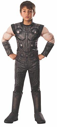 Rubie's 641312M Avengers Infinity Wars Thor Deluxe Kinderkostüm, Schwarz, m