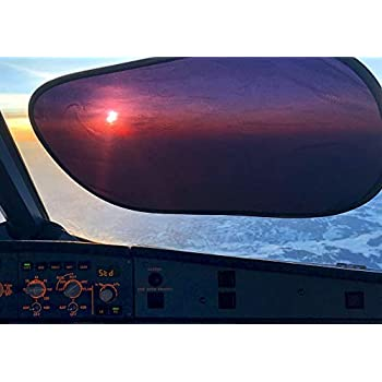 Kinder Fluff Sunshade (4X)-The only Certified Sunshades Blocking 99.79 % of UVA & 99.95% UVB-120 GSM Sun Shades & 15S Static Film.(Mom's Choice Gold Awards Winner) Aircraft,Truck,SUV,car Window Shade