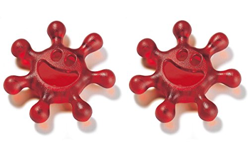 2er Drehverschlussöffner PET Flaschenöffner Sunny von Koziol, für Drehverschlüsse mit dem Durchmesser von ca. 30 mm geeignet, Rot