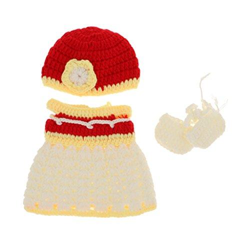D DOLITY Hübsche Puppen Strickkleid + Hut + Socken, Puppenbekleidung Für 10 - 11 Zoll Neugeborenes Babymädchen Puppe - # 2