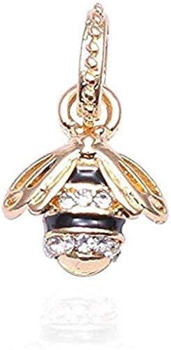 ZGYFJCH Co.,ltd Collar 2 unids/Lote Color Dorado Hermoso Tarro de Miel Cuentas de Animales en Forma de Pulsera y Collar de joyería