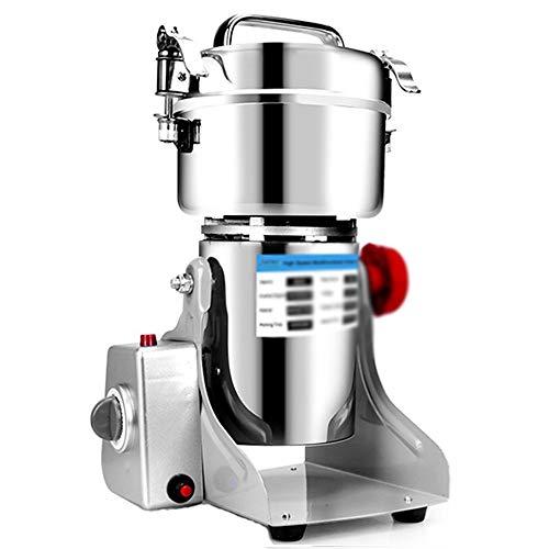 GUAPIHUOJbj Acero 800A Licuadora mezclador eléctrico Granos Especias Cereal seco alimento amoladora Molino Rectificadora inoxidable for la cocina