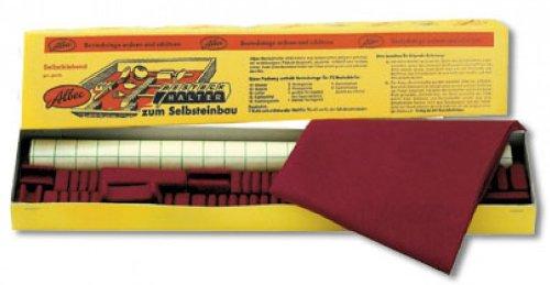 Besteckhalter Komplettsortiment für 72 Besteckteile mit Haftfilz und Abdecktuch Farbe hellrot