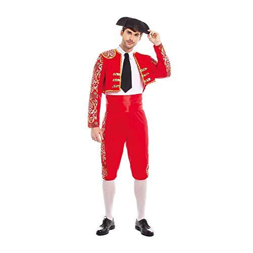 Disfraz Torero Hombre Traje Sombrero【Tallas Adultos de S a L】[Talla L] Disfraz Hombre Carnaval Profesiones con Gorro Desfiles Obras Teatro Actuaciones Regalo