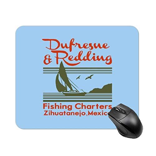 Dufresne Redding Fishing Shawshank Redemption Rutschfeste Hochgeschwindigkeits-Spieltischmatte, Office Square Rubber Base-Mauspad, kundenspezifische kleine Schreibtischmatte