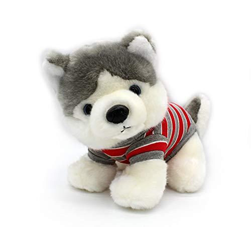 Cxjff Camiseta siberiana Husky en color rojo, para perros de peluche sentados,...