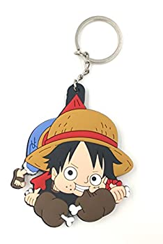 CellDesigns Japanese and US Anime Character Souvenir Collection  One Piece Eating Young Luffy-Keychain