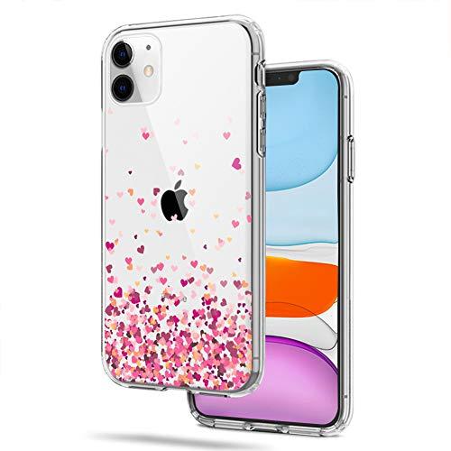 CICIBER Kompatibel mit iPhone 11 Hülle Silikon HandyHülle Love Muster Transparent Weich TPU Schutzhülle Ultra Dünn Stoßfest Antikratz Hülle Cover - Love
