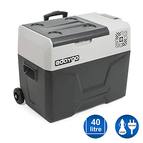 Edaygo Kompressor-Kühlbox Kühlschrank Auto Camping Kühltruhe Gefrierbox, Leise, 12-24 V...