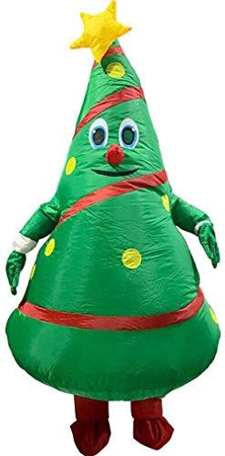 Disfraz inflable de Navidad para adultos con forma de rbol de Navidad, ideal para fiestas de Navidad de 150 a 190 cm (rbol de Navidad)