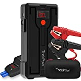 TrekPow SuperSafe Car Jump Starter G39 1200A Peak 12V Portable Battery Jumper Box with USB Quick Charge 3.0 (up to 6.5L Gas, 5.5L Diesel Engine), Auto Booster Power Pack with Smart Jumper Cables