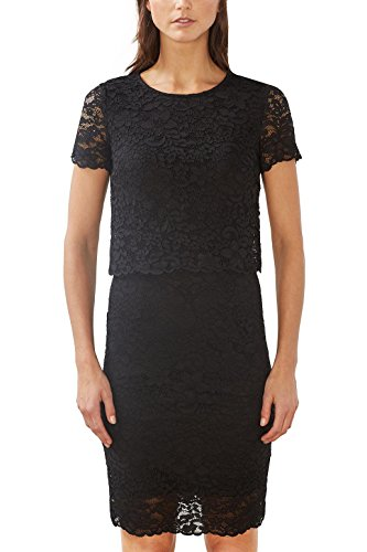ESPRIT Collection Damen 017EO1E010 Kleid, Schwarz (Black 001), 42