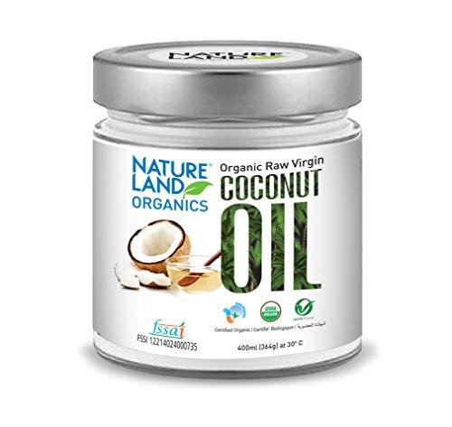 Natureland Organics Coconut Oil 400 Ml - Organic Raw Virgin Oil