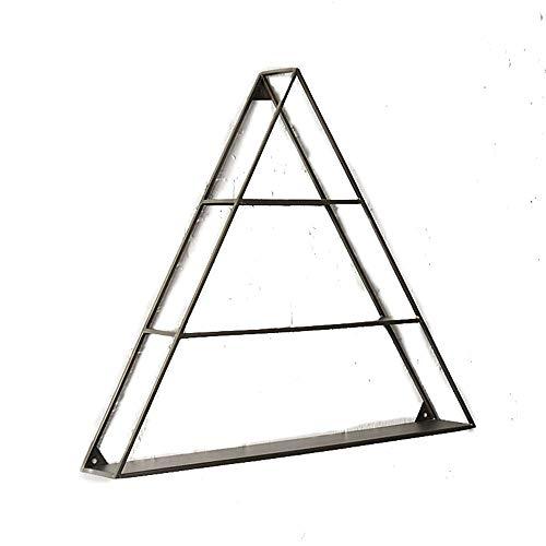 Wandrek, plank voor het opbergen van platen, eenvoudig, van metaal, driehoekig, drijvend, wandrek, decoratief, drijvend rek.
