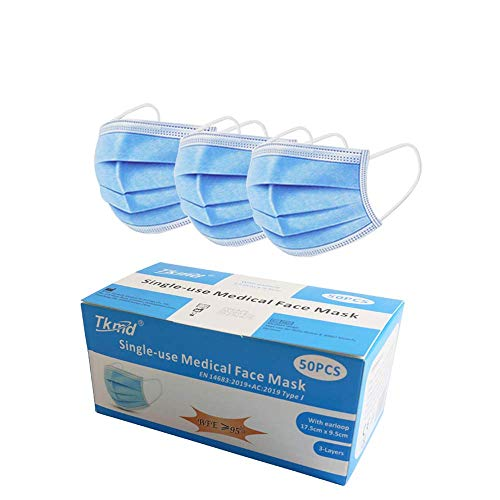 Tkmd Mundschutz OP Maske Atemschutz 3-Lagig TYP I BFE 95% Gesichtsmaske Medizinische MNS Schutzmaske 50St./Box Lager in Darmstadt blitzversand
