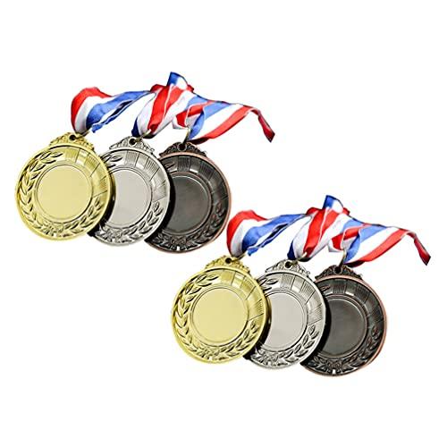 ABOOFAN 6 Unidades de Medallas de Oro Y Plata Premios para Los Niños Deportes Escolares para Los Niños Competiciones Deportivas Escolares