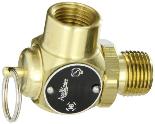5 psi Set Pressure 3//4 NPT Male x Female Pack 3- Apollo Valve 13-211 Series Bronze Safety Relief Valve ASME Steam
