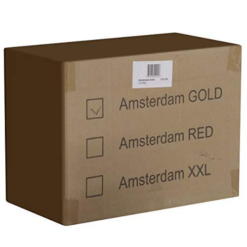 Amsterdam Gold, 1000 extra vochtige condooms, breedte 53mm