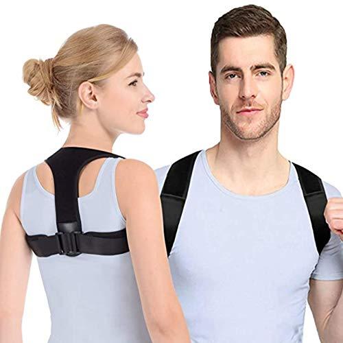 Anoopsyche Haltungskorrektur Rücken Geradehalter Damen Herren Rückenstütze, Geradehalter zur Haltungskorrektur mit 2 Schulterpolster, für haltungsbedingte Nacken, Rücken und Schulterschmerzen, S