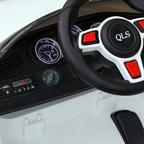 RC Auto kaufen Kinderauto Bild 6: HOMCOM Kinderauto Elektroauto Kinderfahrzeug Kinderwagen mit Fernbedienung Weiß L115 x B65 x H50 cm*
