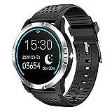 LLM IP67 Impermeabile, GO3 Smartwatch Uomini EKG HRV Cardiofrequenzimetro Braccialetto 10 Modalità Sport Pressione Sanguigna Ossigeno Tracker, Orologio Intelligente (A)