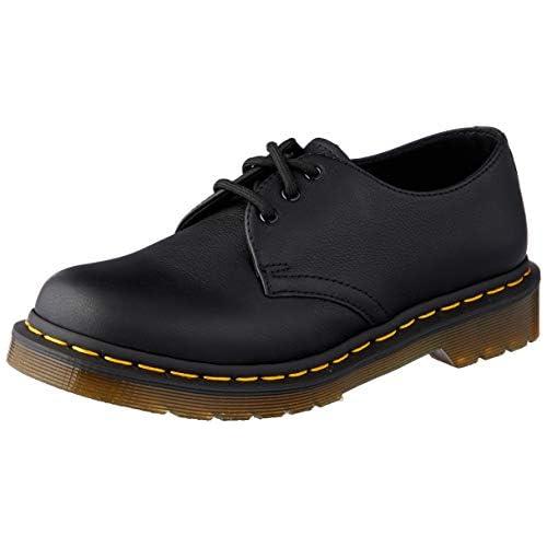 Dr. Martens Women's 1461 W Virginia Leather Lace Up Shoe Black-Black-4 Size 4