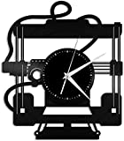 TJIAXU Impresora 3D Reloj de Pared de Vinilo Reloj Registro Disco de Vinilo Registro casero decoración del hogar