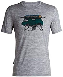2d65e8885ce6a9 Icebreaker Merino Men's Tech Lite Short Sleeve Crewe Arctic Explorers  Athletic T Shirts, X-