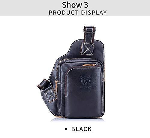 dddyr Herren Ledertasche Casual Herren Leder Outdoor Sport Schulter Messenger Bag