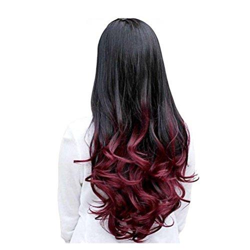 conseguir pelucas mujer rojo vino