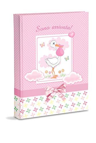 rosa con bolsillos 21 x 28 cm /Álbum de fotos para beb/é capacidad para 200 fotos de 13 x 18 cm Mareli