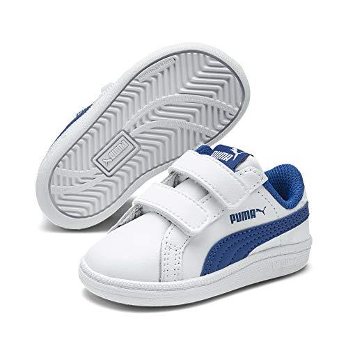 PUMA Smash Baby Sneaker Puma White-Lapis Blue UK 3_Infant_FR 19