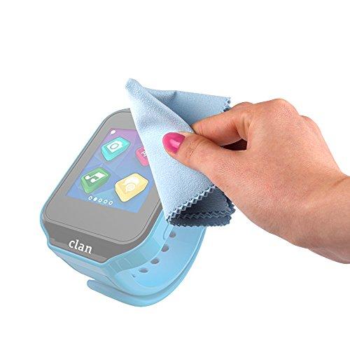 DURAGADGET Gamuza Limpiadora para Reloj de niño CEFATRONIC - Smartwatch Clan (105) - Ideal para Mantener Su Dispositivo Intacto