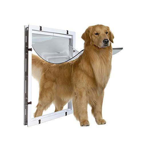 MELAG Haustier Hundeklappe Tür Haustierklappe Hundeklappe Katzenklapp Großer Hund Tür Extra große Haustiertür Loch Golden Hair Collie Rottweiler Großer Hund in und aus der Tür Loch Weiß 59 * 43 * 5cm