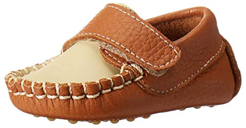 Baby Boys Shoes Leather Soft Sole Shoes w/Laces - Beige, Size 16 EU/1 US Infant