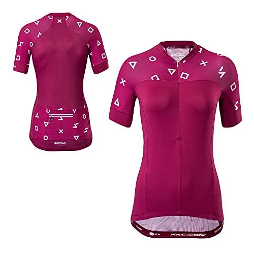Maillot de cyclisme à manches courtes Silvini Catirina - Pour femme M rouge