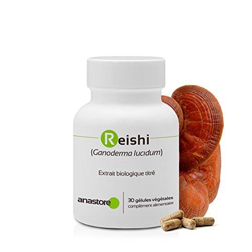 REISHI ROJO BIO (GANODERMA LUCIDUM) * 300 mg / 30 cápsulas * Antiinflamatorios, Antioxidantes, Cardiovascular (tensión), Energia (fatiga), Inmunitario (alergias, estimulación de defensas naturales, respiración) * Garantía de satisfacción o reembolso * Fabricado en Francia