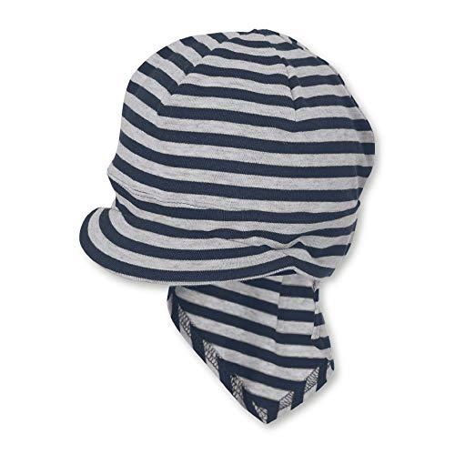 Sterntaler Unisex Baby Piratentuch mit Nackenschutz Mütze, Blau, 45